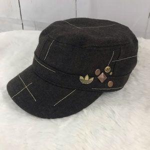 ADIDAS brown newsie hat